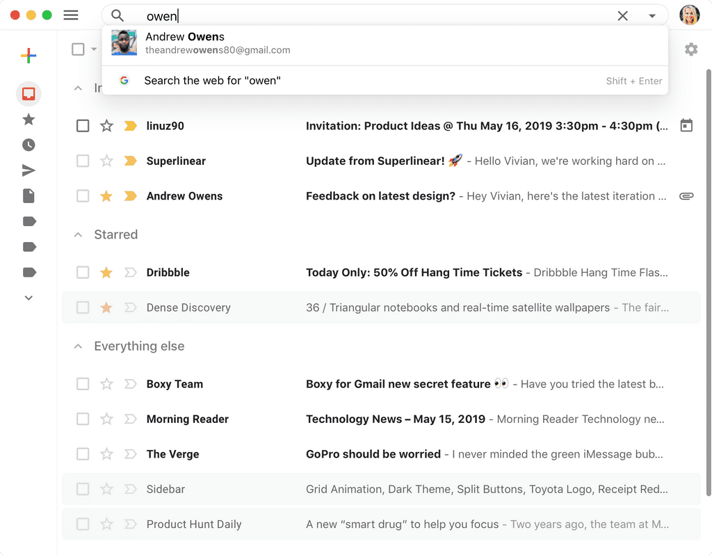 Boxy for Gmail app screenshot 9