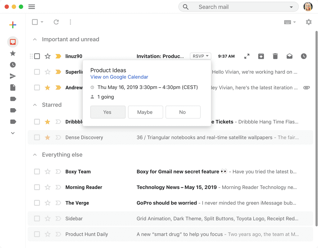 Boxy for Gmail app screenshot 12